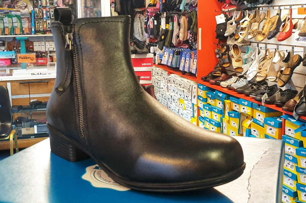 Wider Fit Soft Leather Double Zip Boot