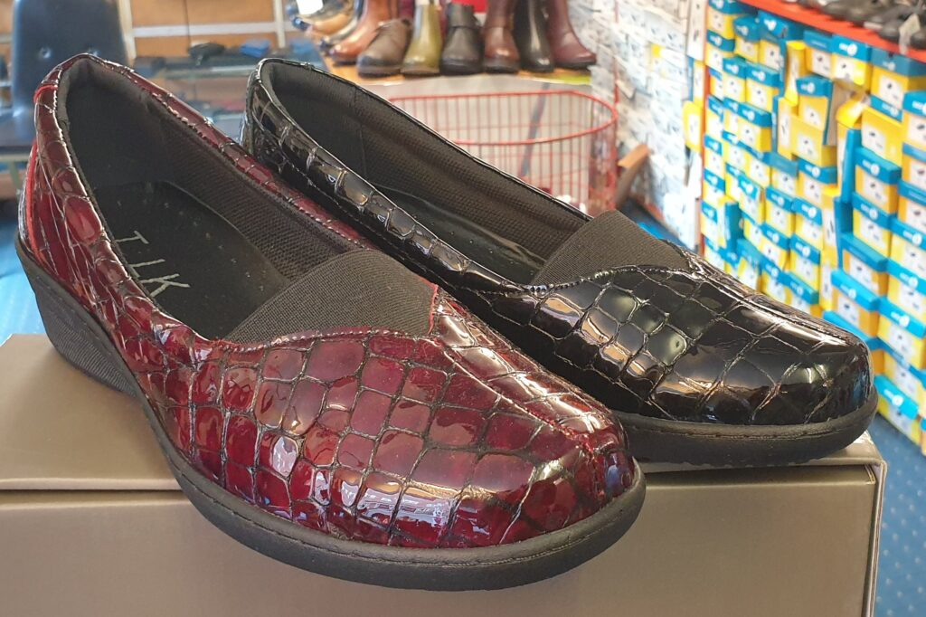 Genuine Leather Croc Style Shoe