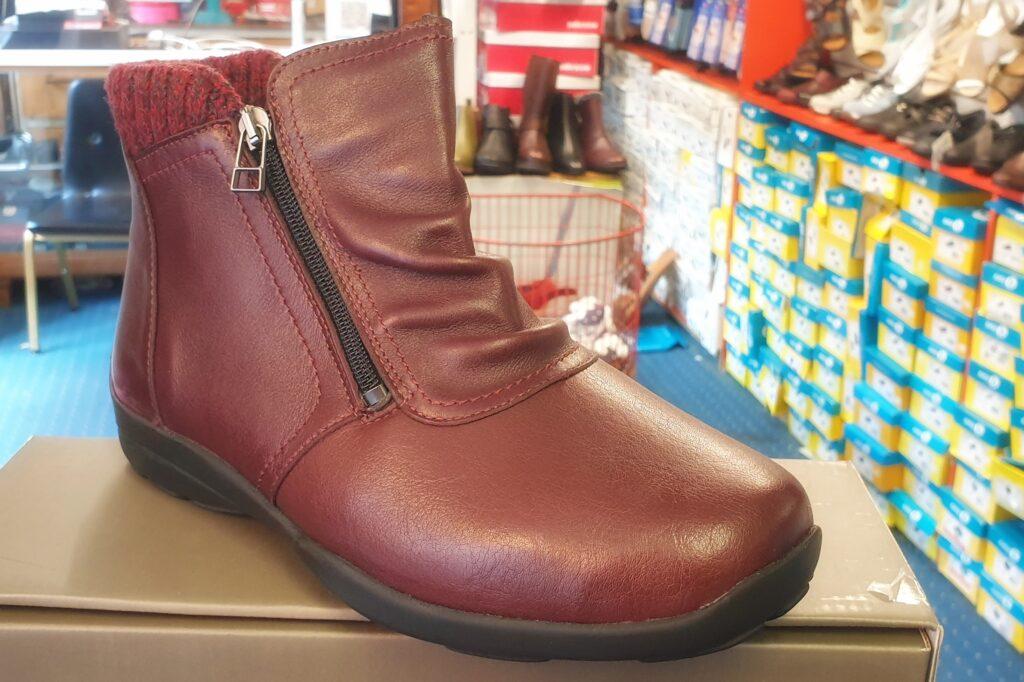 burgundy boot